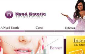 Criação do site Nyoa estetic, um pouco mais