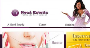 Projeto site Nyoa Estetic