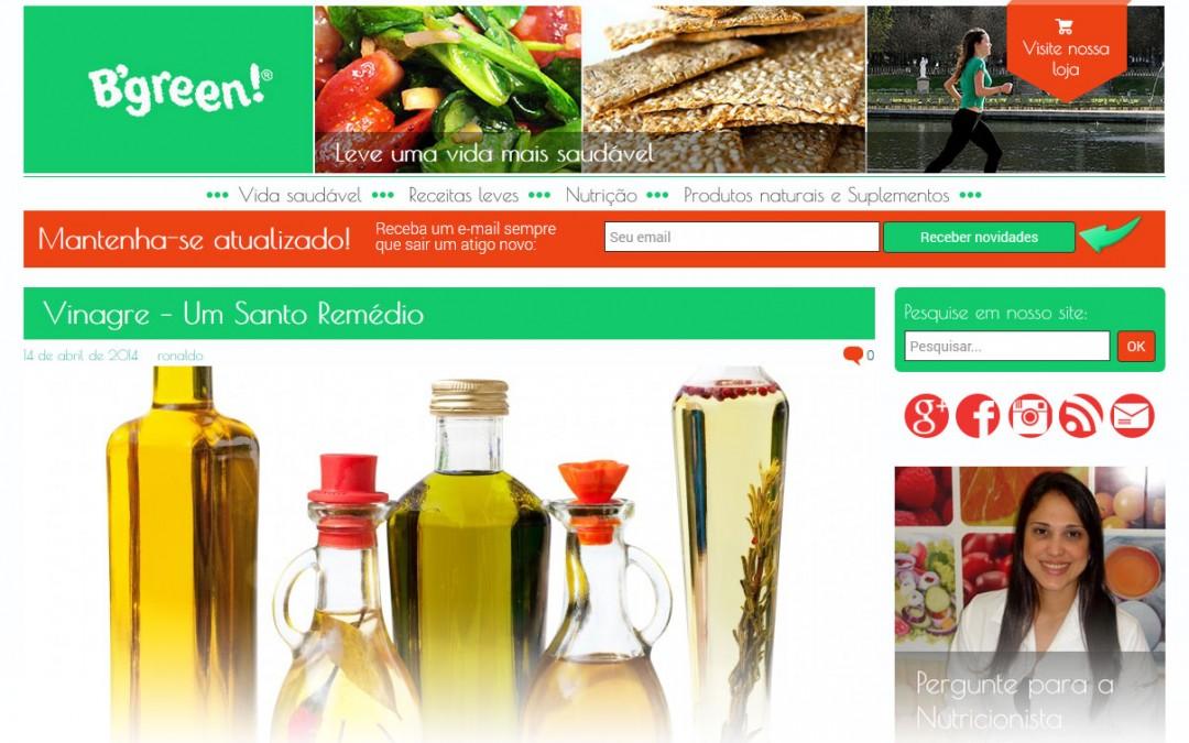 B'green – blog sobre nutrição e bem estar