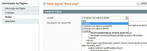 alterando o número de colunas da página