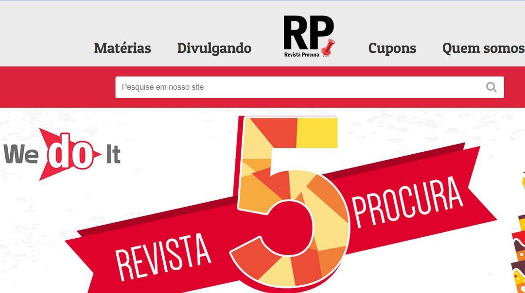 Novo Site Revista procura agora com design responsivo e amigável