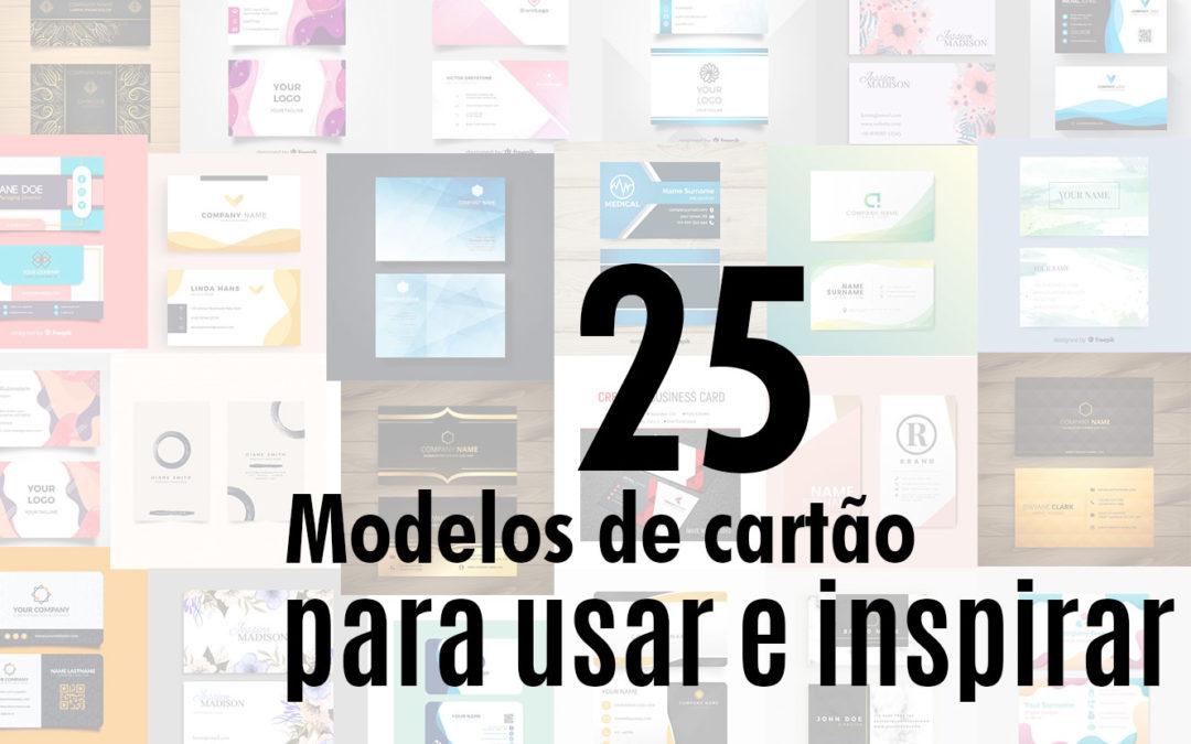 25 modelos de cartão de visita para inspirar e usar